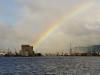 Zum Abschied von Belfast ein Regenbogen