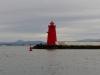 Poolbeg Leuchtturm an der Einfahrt zum Dubliner Hafen