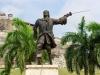 San Blas de Lazaro - rechter Arm ab, linkes Auge kaputt, linkes Bein aus Holz und trotzdem noch auf die Kacke hauen - Hut ab!